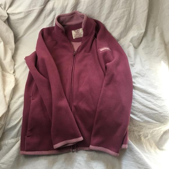 Life Is Good Jackets & Blazers - Life is Good Pink Fleece Jacket Top Zip Up Sz Med
